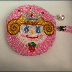 Brand new, beaded princess coin purse